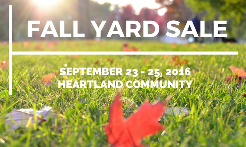 Heartland Community Hosts Fall Yard Sale Sept. 23-25