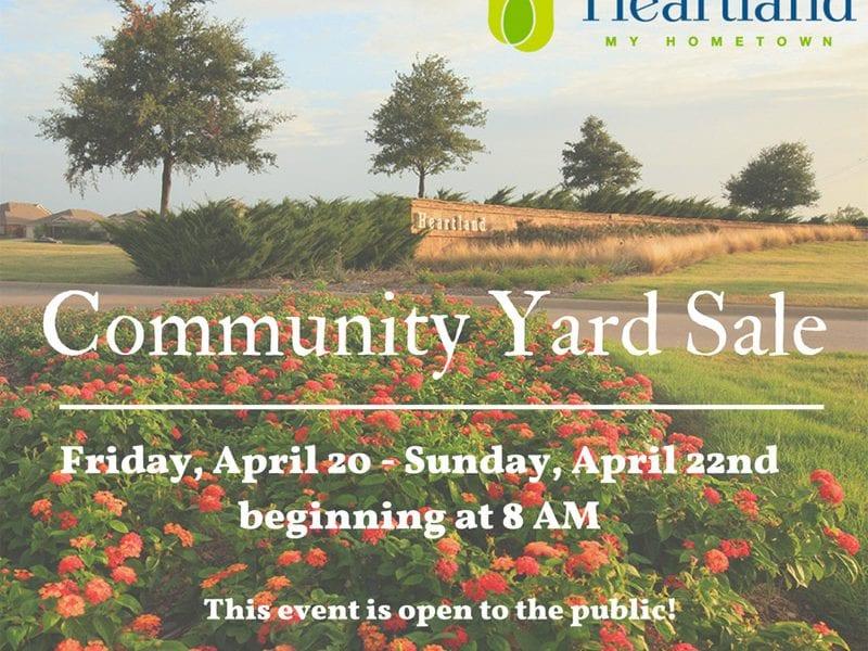 Spring Community Yard Sale!